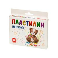 """Мишка KNYB-10 """"Мишка"""" Пластилин KNYB-10 ( в картонной упаковке с европодвесом ) 10 цв. ассорти"""