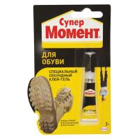 МОМЕНТ 1694871 Клей обувной моментальный Супер МОМЕНТ, 3 г, отрывная мультикарта, 608976, 1694871