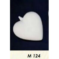 МП Студия М124 Заготовка керамическая Сердце подвесное (ср.) h = 80х75 мм