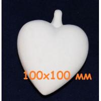 МП Студия М125 Заготовка керамическая Сердце подвесное (б) h = 100х100 мм