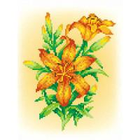 МП Студия СК-034_МПС Рисунок-схема для вышивания крестиком СК-034 Огненная лилия