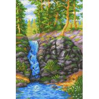 МП Студия СК-078_МПС Рисунок-схема для вышивания крестиком СК-078 Лесной водопад