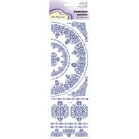 """Mr.Painter CD-04 Наклейки переводные для керамики 11 см х 36 см 5 шт. CD-04 """"Голубой орнамент №2"""""""