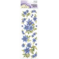 """Mr.Painter CD-10 Наклейки переводные для керамики 11 см х 36 см 5 шт. CD-10 """"Голубые цветочки"""""""