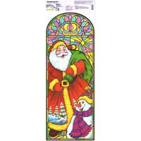 """Mr.Painter BWD Наклейки для окон (новогодние) 21 см х 59.5 см 5 шт.  BWD-01 """"На работу!"""""""