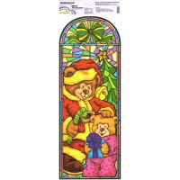 "Mr.Painter BWD Наклейки для окон (новогодние) 21 см х 59.5 см 5 шт.  BWD-03 ""Новогодние мишки"""