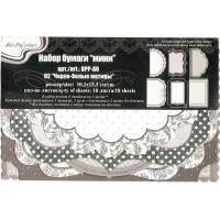 """Mr.Painter DPP-A6 Бумага для скрапбукинга """"Mr.Painter"""" DPP-A6 Набор бумаги """"мини"""" 120 г/кв.м 10.2 x 15.3 см 18 л. 02 """"Черно-белые узоры"""""""