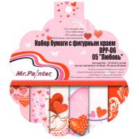 """Mr.Painter DPP-D6 Бумага для скрапбукинга DPP-D6 Набор бумаги с фигурным краем 15.2 x 15.2 см 18 л. 05 """"Любовь"""""""