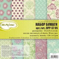 Mr.Painter DPP-S7 Бумага для скрапбукинга  DPP-S7 Набор бумаги 120 г/кв.м 15.2 x 15.2 см уп.50 л. 05