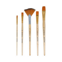 "Mr.Painter SBFW 01-05 Набор кистей ""Mr.Painter"" набор синтетика SBFW 01-05 5 шт. короткая ручка плоские № 6, 10, 14, 18, веерная № 14"