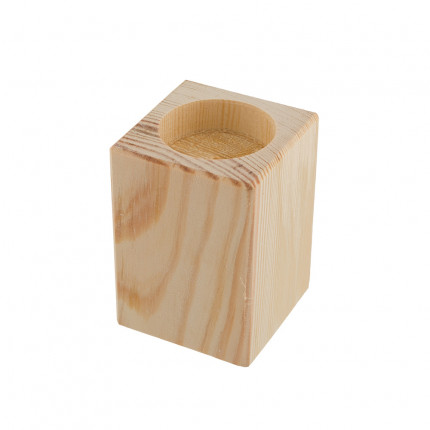 """Заготовка для декорирования """"Mr. Carving"""" ПР-36 Подсвечник средний сосна 7.5 x 5.5 x 5.5 см . (арт. ПР-36)"""