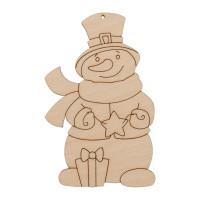 """Mr. Carving ВД-1002 Заготовка для декорирования """"Mr. Carving"""" ВД-1002 Подвеска """"Снеговик с подарками"""" фанера ."""