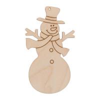 """Mr. Carving ВД-1039 Заготовка для декорирования """"Mr. Carving"""" ВД-1039 Подвеска """"Веселый снеговичок"""" фанера ."""