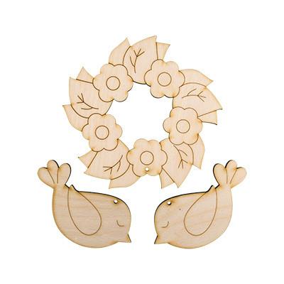 """Заготовка для декорирования """"Mr. Carving"""" ВД-128 Набор весенний """"Венок с птичками"""" фанера 10 - 15 см . (арт. ВД-128)"""
