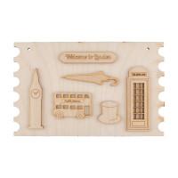 """Mr. Carving ВД-172 Заготовка для декорирования """"Mr. Carving"""" ВД-172 Панно фанера 20 x 12 см Лондон"""