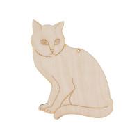 """Mr. Carving ВД-178 Заготовка для декорирования """"Mr. Carving"""" ВД-178 """"Животные"""" №1 фанера  Кошка (12х15 см)"""