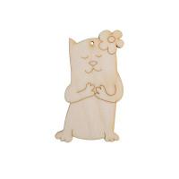 """Mr. Carving ВД-180 Заготовка для декорирования """"Mr. Carving"""" ВД-180 """"Кошечка с цветком"""" фанера 8 см ."""