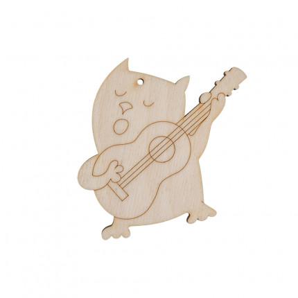 """Заготовка для декорирования """"Mr. Carving"""" ВД-181 """"Кот с гитарой"""" фанера 9 см . (арт. ВД-181)"""