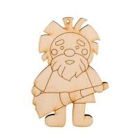 """Mr. Carving ВД-188 Заготовка для декорирования """"Mr. Carving"""" ВД-188 """"Домовой"""" фанера 10 см №1 С веником"""