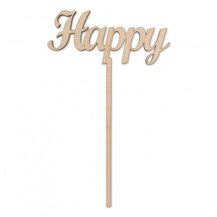 """Заготовка для декорирования """"Mr. Carving"""" ВД-231 Украшение для торта """"Happy"""" фанера 20 x 12 см . (арт. ВД-231)"""