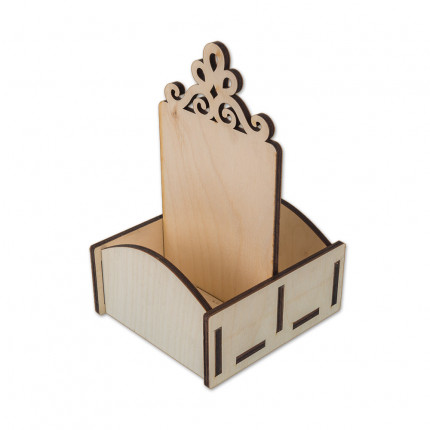 "Заготовка для декорирования ""Mr. Carving"" ВД-244 Подставка для специи двухсторонняя фанера 12 x 12 x 22 см . (арт. ВД-244)"