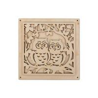 """Mr. Carving ВД-250 Заготовка для декорирования """"Mr. Carving"""" ВД-250 Панно """"Совы"""" фанера 16 x 16 см набор"""