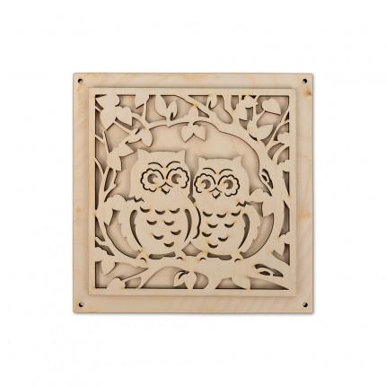 """Заготовка для декорирования """"Mr. Carving"""" ВД-250 Панно """"Совы"""" фанера 16 x 16 см набор (арт. ВД-250)"""