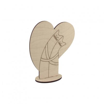"""Заготовка для декорирования """"Mr. Carving"""" ВД-276 """"Обнимашки с сердцем"""" фанера 10 x 12 см . (арт. ВД-276)"""