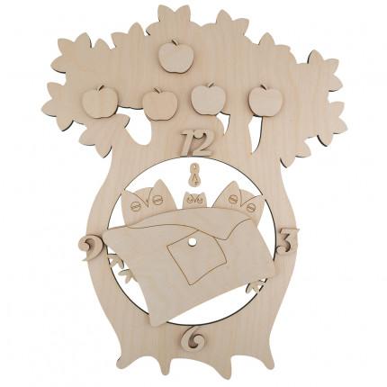 """Заготовка для декорирования """"Mr. Carving"""" ВД-351 Часы """"Спящие совушки"""" фанера 35 x 29 см . (арт. ВД-351)"""