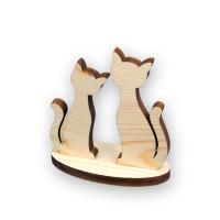 """Mr. Carving ВД-356 Заготовка для декорирования """"Mr. Carving"""" ВД-356 Набор """"Коты на подставке"""" сосна 11 x 13 см ."""