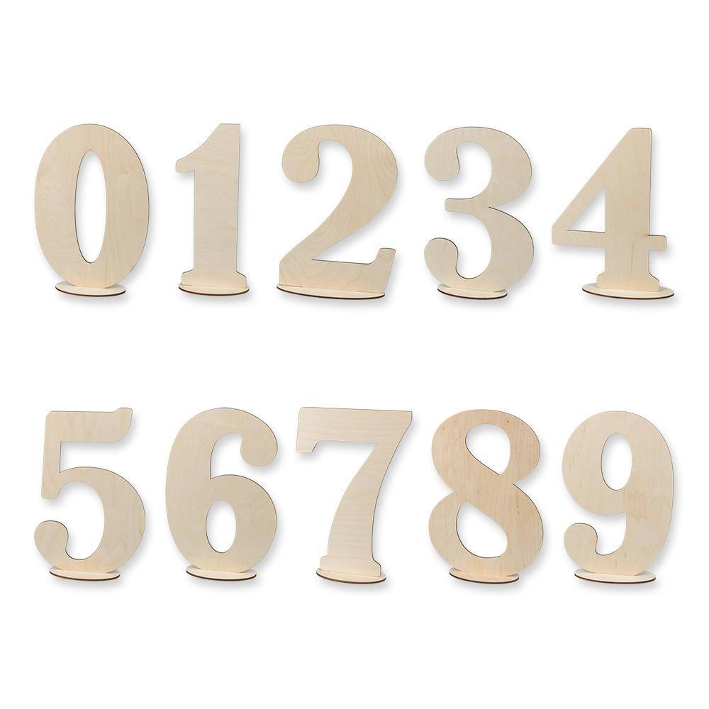"""Заготовка для декорирования """"Mr. Carving"""" ВД-386 Цифры на подставке фанера 30 см Цифра 0 (арт. ВД-386)"""