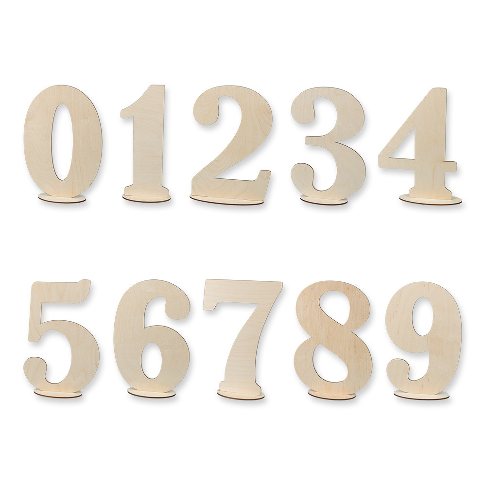 """Заготовка для декорирования """"Mr. Carving"""" ВД-386 Цифры на подставке фанера 30 см Цифра 5 (арт. ВД-386)"""