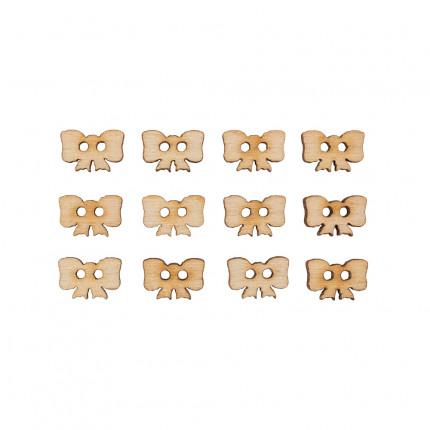 """Заготовка для декорирования """"Mr. Carving"""" ВД-387 Набор пуговиц фанера Бантики (0.8 x 1.2 см) 13 штук (арт. ВД-387)"""