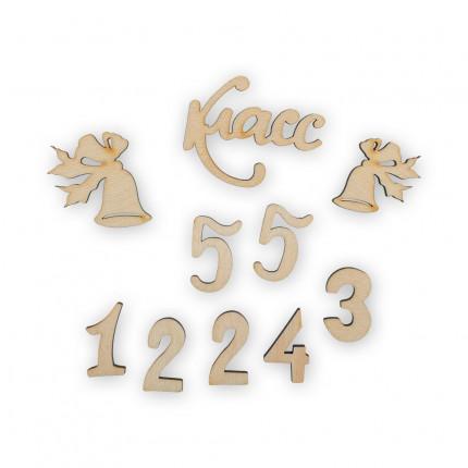 """Заготовка для декорирования """"Mr. Carving"""" ВД-400 Мини-набор фанера 2-5 см 10 шт №3 """"Школа"""" (арт. ВД-400)"""