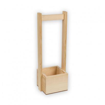 """Заготовка для декорирования """"Mr. Carving"""" ВД-482 Коробка с ручкой сосна 12 x 12 x 9 см малая (арт. ВД-482)"""