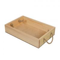 Mr. Carving ВД-483 Заготовки для декорирования  Поднос с веревочными ручками сосна