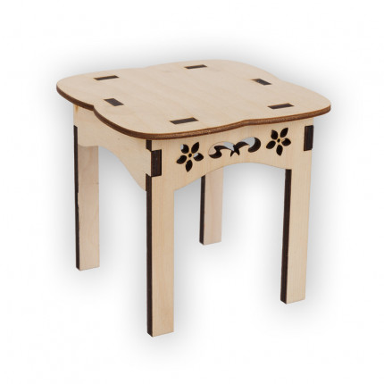 "Заготовка для декорирования ""Mr. Carving"" ВД-505 Стол ""Прованс"" фанера 13 x 14 x 14 см (арт. ВД-505)"