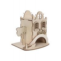 """Mr. Carving ВД-565 Заготовка для декорирования """"Mr. Carving"""" ВД-565 Чайный домик """"Амстердам"""" фанера 15 x 16 см ."""