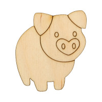 """Mr. Carving ВД-635 Заготовка для декорирования """"Mr. Carving"""" ВД-635 Свинка фанера №1 (4.5х5 см)"""