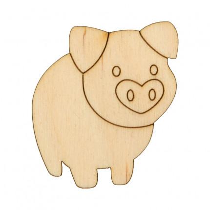 """Заготовка для декорирования """"Mr. Carving"""" ВД-635 Свинка фанера №1 (4.5х5 см) (арт. ВД-635)"""