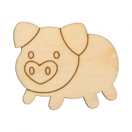 """Заготовка для декорирования """"Mr. Carving"""" ВД-636 Свинка №3 фанера 5 x 4.3 см . (арт. ВД-636)"""