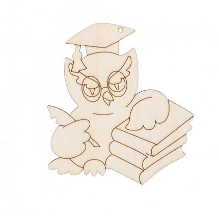 """Заготовка для декорирования """"Mr. Carving"""" ВД-649 Подвеска фанера 10 x 14 см """"Сова-профессор"""" (9х8.2 см) (арт. ВД-649)"""