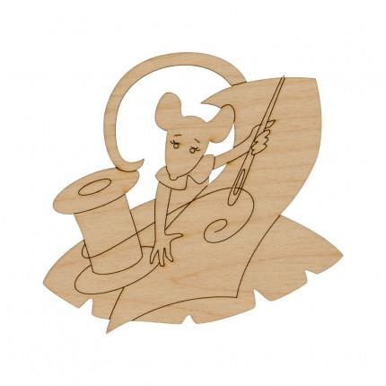 """Заготовка для декорирования """"Mr. Carving"""" ВД-772 Подвеска """"Крыса"""" фанера  рукодельница (9х10 см) (арт. ВД-772)"""