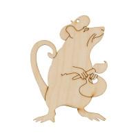 """Mr. Carving ВД-772 Заготовка для декорирования """"Mr. Carving"""" ВД-772 Подвеска """"Крыса"""" фанера  художник (9х6.5см)"""