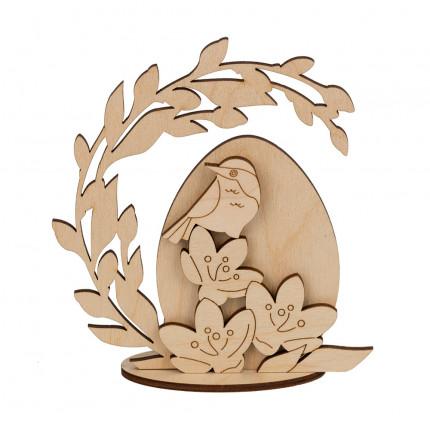 """Заготовка для декорирования """"Mr. Carving"""" ВД-861 """"Яйцо пасхальное"""" на подставке фанера 12х10 см . (арт. ВД-861)"""