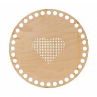"""Mr. Carving ВД-905 Заготовки для декорирования """"Mr. Carving"""" ВД-905 Панно с перфорацией """"Сердце"""" фанера d 15 см для выш"""