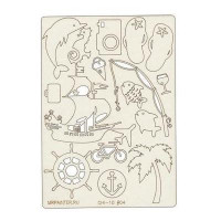 """Mr. Painter CHI-10/004 Чипборд картонный """"Путешествия"""""""