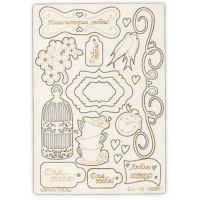 "Mr. Painter CHI-10/150807 Чипборд картонный ""Песни о любви"""