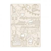 """Mr. Painter CHI-10/180402 Чипборд картонный """" Сладкое время"""""""