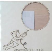 "Mr. Painter CHI-9/36 Чипборд картонный ""Мишка на шаре"""